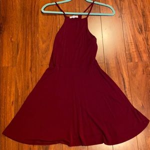 PacSun super soft maroon dress
